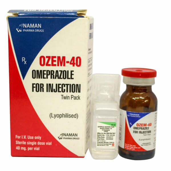 Ozem-40mg-injection-omeprazole duodenal ulcers gastric ulcers reflux oesophagitis Zollinger-Ellison syndrome